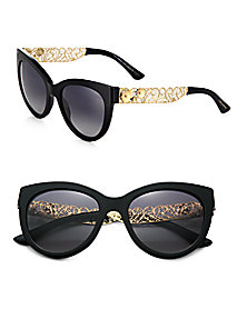 Dolce & Gabbana - Filigree Cat's-Eye Sunglasses - Saks Fifth Avenue Mobile