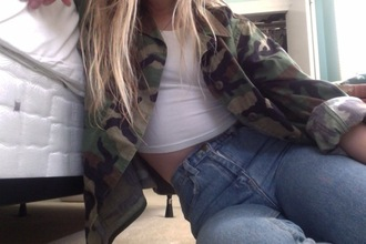 jacket military style army coat camouflage highwaisted jeans