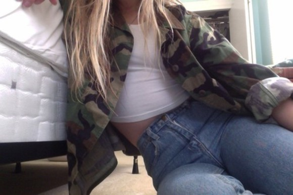 jacket camouflage highwaisted jeans military army coat