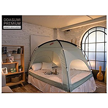 Amazon.com: DDASUMI Warm Tent For Double Bed Without Floor (Mint) - Blocking Cold air, Privacy, Play Indoor Tent: Home & Kitchen