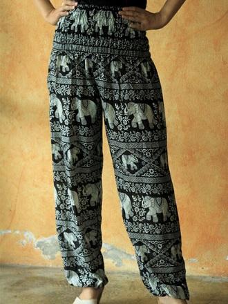 pants elephant genie fisherman pants hippe boho harem