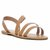 Strappy Wrap Around Ankle Sandal - Natural