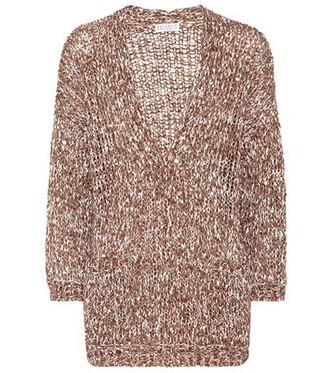 cardigan brown sweater
