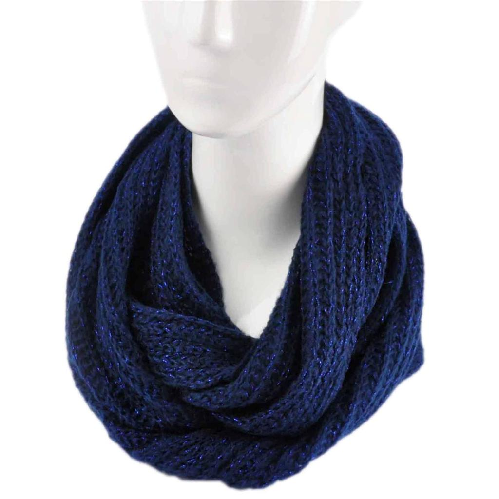 Ladies Fashion Knitted Snood Warm Winter Women Two Tone Snood Scarf | eBay