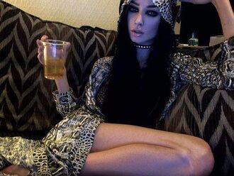 dress tumblr felice fawn maxi dress maxi hooded dollskill nastygal alternative snake print snake coat dress