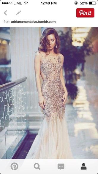 dress gold dress gold sequins prom dress