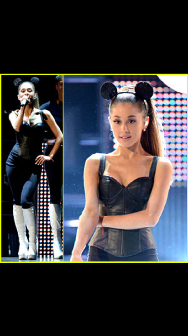 blouse ariana grande leather top disney music awards problem