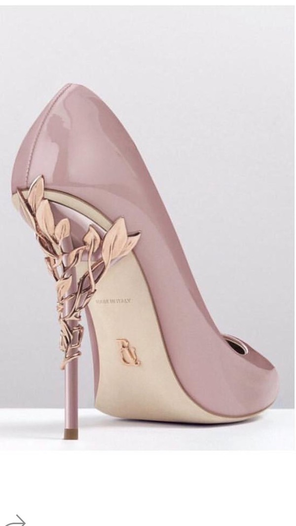 Rose Gold High Heels - Jhw Ip