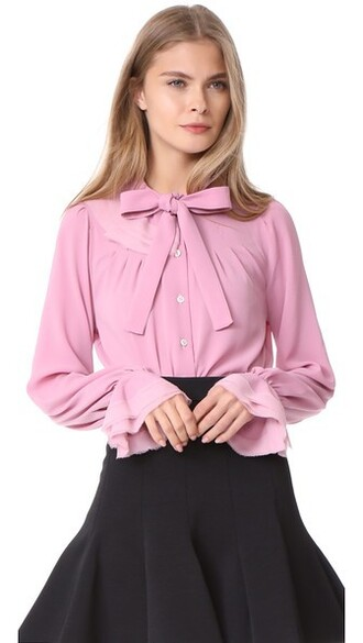 blouse rose top