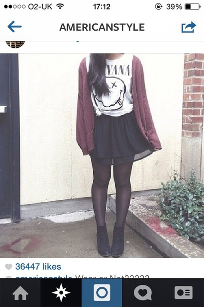 shirt nirvana skirt jacket