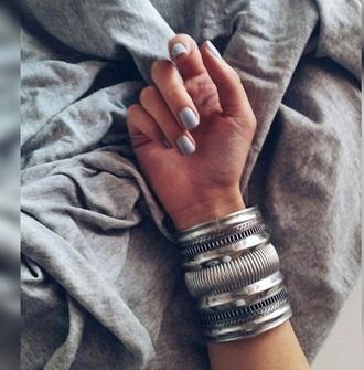 jewels silver h&m zara boho silver jewelry cuff bracelet