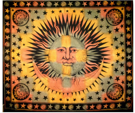 Moon in the Lap of the Sun Tapestry | Hippy Boutique