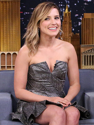 dress strapless dress bustier dress sophia bush