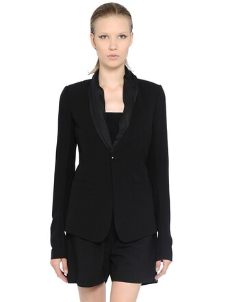 jacket cool silk wool black