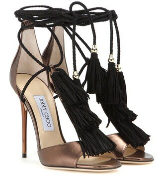 metallic sandals leather sandals leather brown shoes