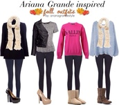 sweater,ariana grande,jeans,shoes,scarf
