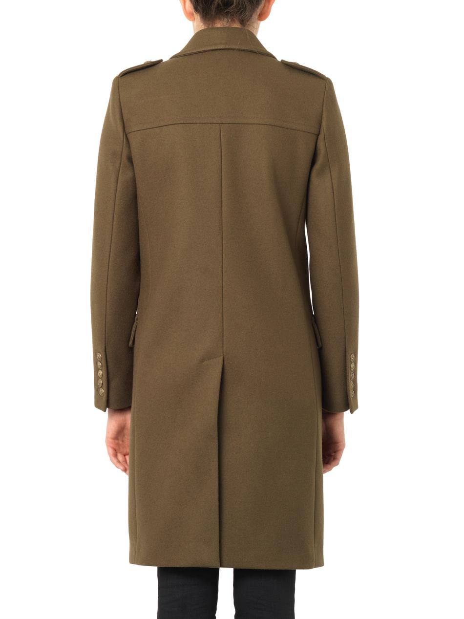 Military double-breasted wool coat | Saint Laurent | MATCHESFA...