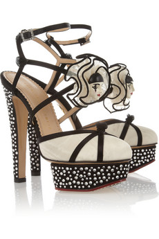 Pierrot crystal-embellished silk sandals | THE OUTNET