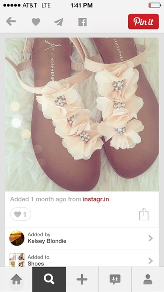 beach wedding flat sandals floral