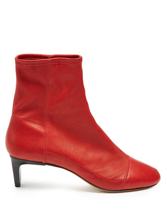 suede ankle boots boots ankle boots suede red shoes