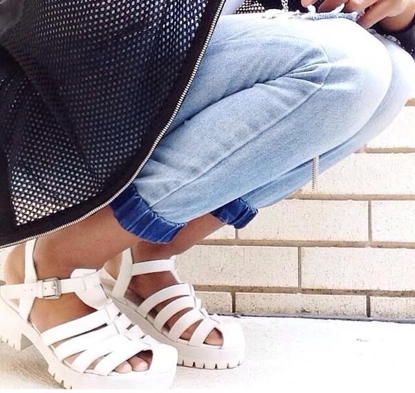 shoes flatforms white shoes sandals heels pastel platforms