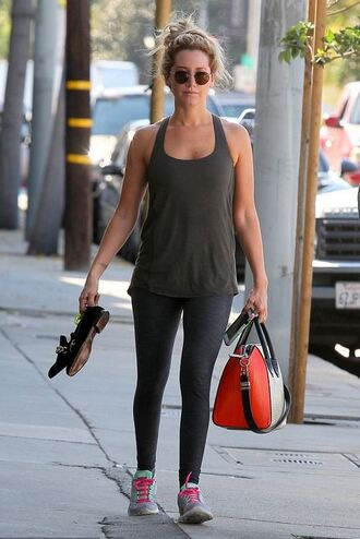 flats ashley tisdale tank top leggings