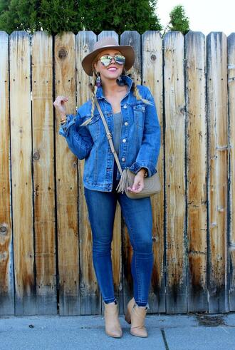 the fashion canvas – a fashion & lifestyle blog blogger jacket jeans shoes sunglasses hat jewels