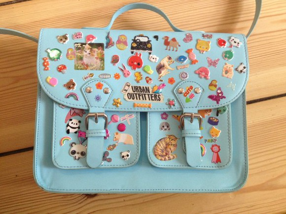 blue girl tumblr fashion bag blue bag purse