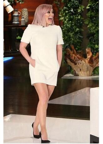 dress mini skirt mini dress pumps hilary duff short sleeve dress