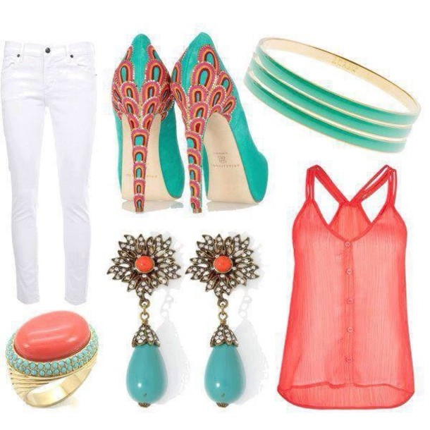 shoes aqua high heels loose tank top white skinny jeans
