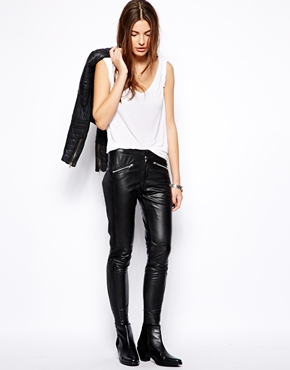 Muubaa | Muubaa Yasi Rider Leather Trousers at ASOS