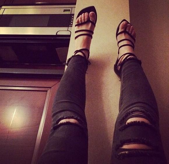 flat stripes no heels casual