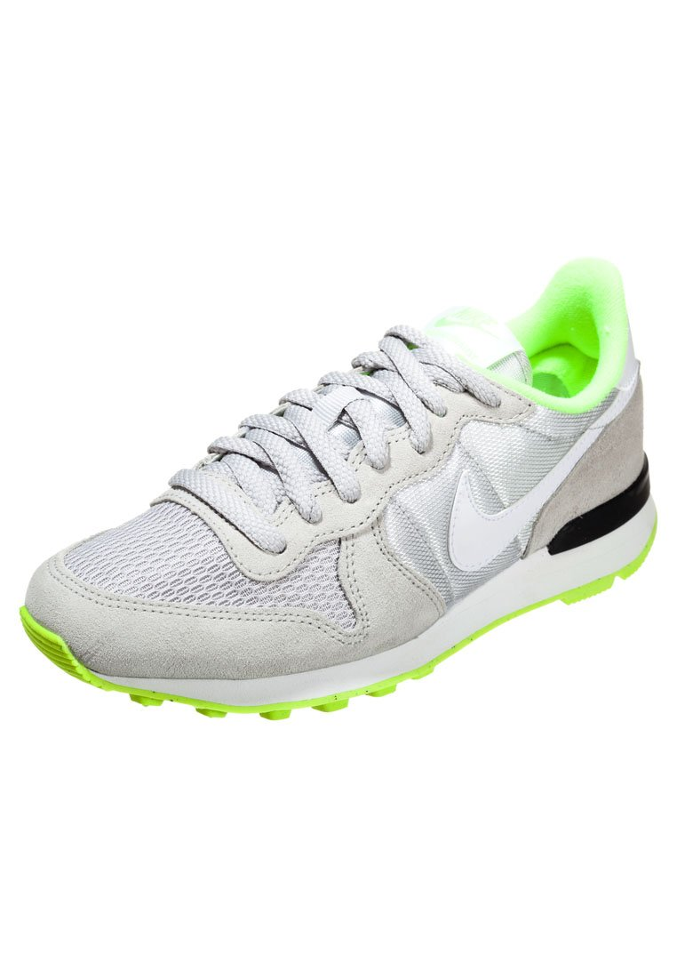 Nike Sportswear INTERNATIONALIST - Sneaker - light ash grey/white/volt/black - Zalando.de
