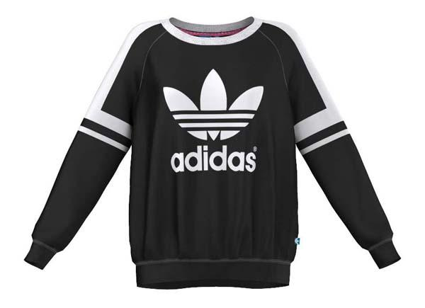 Adidas Original Logo Crew Sweat Black Woman. Clothes woman Sweatshirts, Runnerinn.com, buy, offers, running & triathlon.