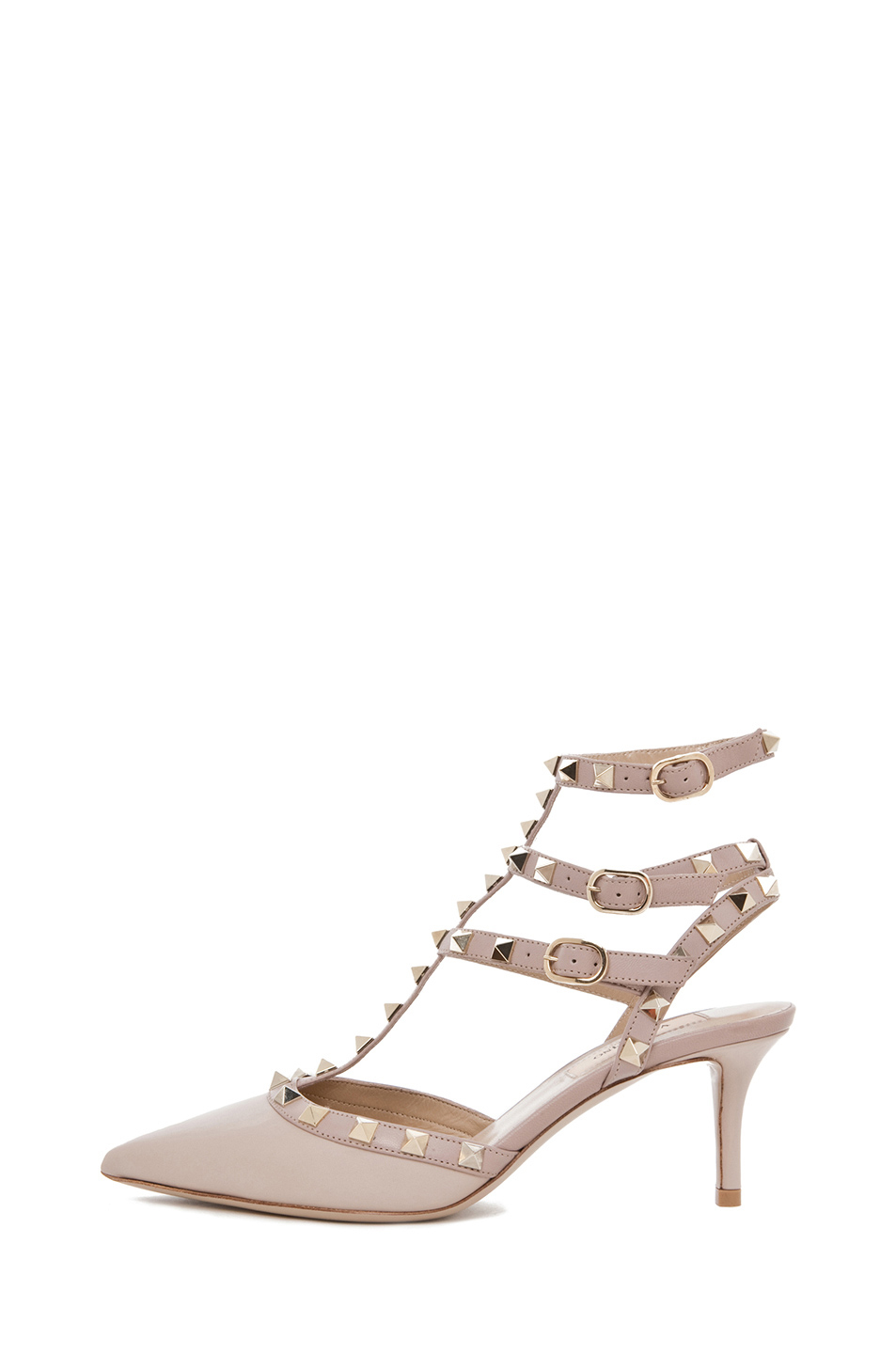 Valentino | Rockstud Leather Slingbacks T.65 in Powder