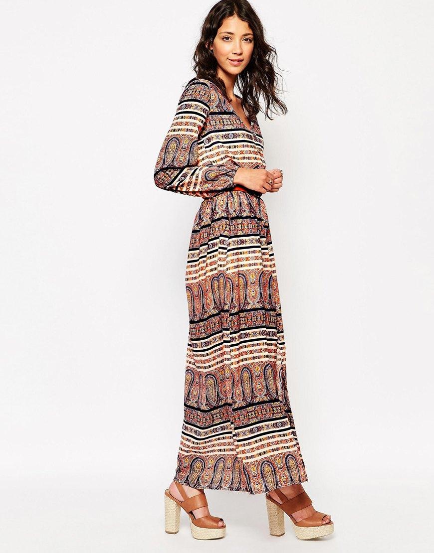 Long Sleeve Boho Maxi Dress at asos.com