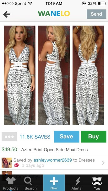 dress black and white maxi dress
