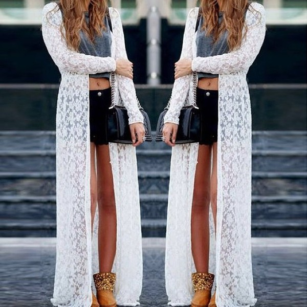 cardigan white lace long cardigan lace cardigan