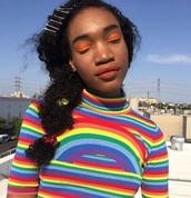 t-shirt,rainbow