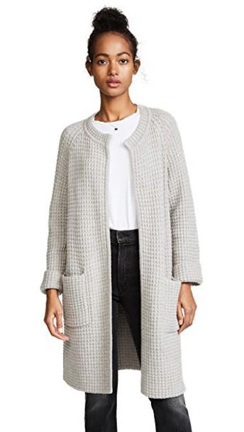 Madewell cardigan cardigan long silver sweater