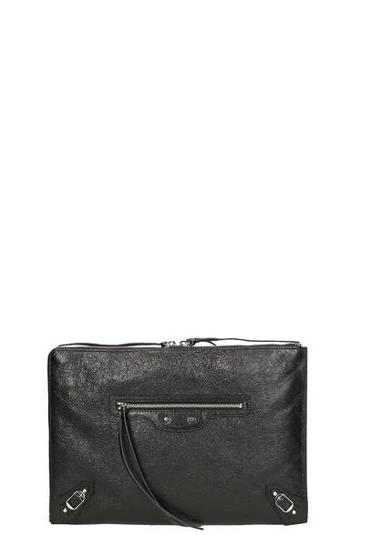 metallic classic clutch pouch black bag