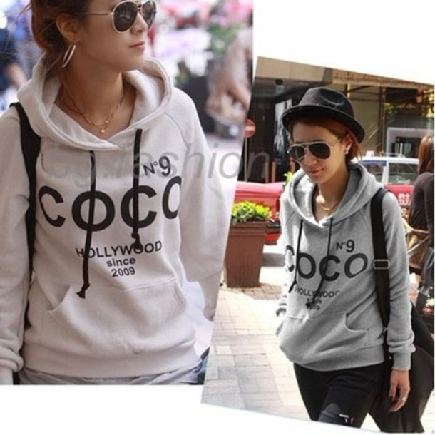 sweater ebay coco chanel sweatshirt wheretoget. Black Bedroom Furniture Sets. Home Design Ideas