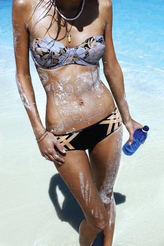 swimwear floral swimwear patterned swimwear bikini top bikini bottoms beach