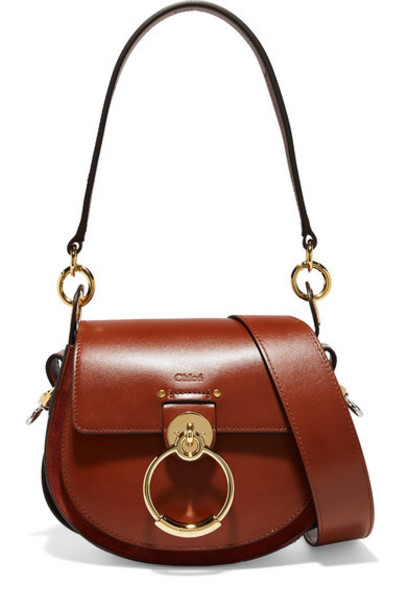 Chloé Chloé - Tess Leather And Suede Shoulder Bag - Brown
