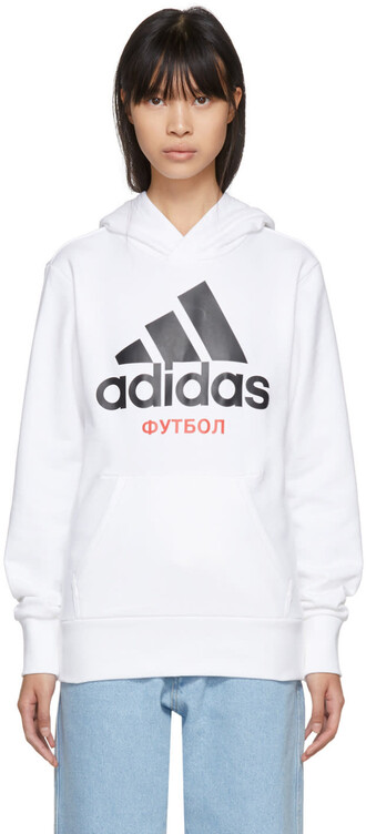 hoodie adidas originals white sweater