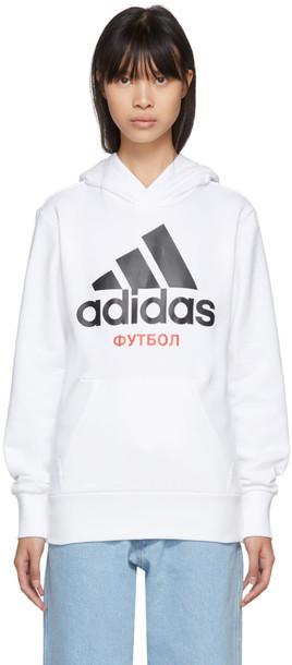 Gosha Rubchinskiy hoodie adidas originals white sweater