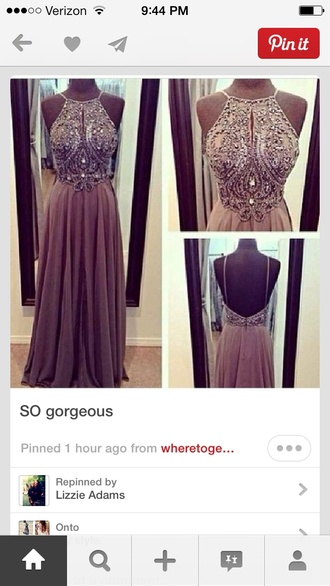dress beige and blush color beading at top gown long dress grey grey dress sparkly dress sparkle nude dress silver prom long long prom dress shiny shiny dress spaghetti strap nude prom dress light pink purple beaded low back cut out back brown halter brown halter neck backless pretty sequins beautiful