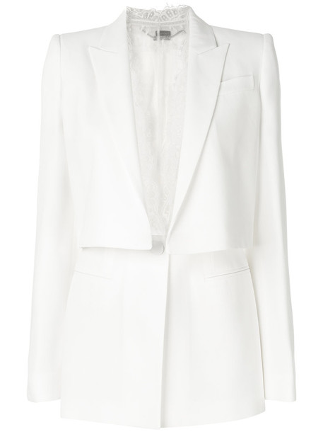 Alexander Mcqueen jacket women lace white cotton