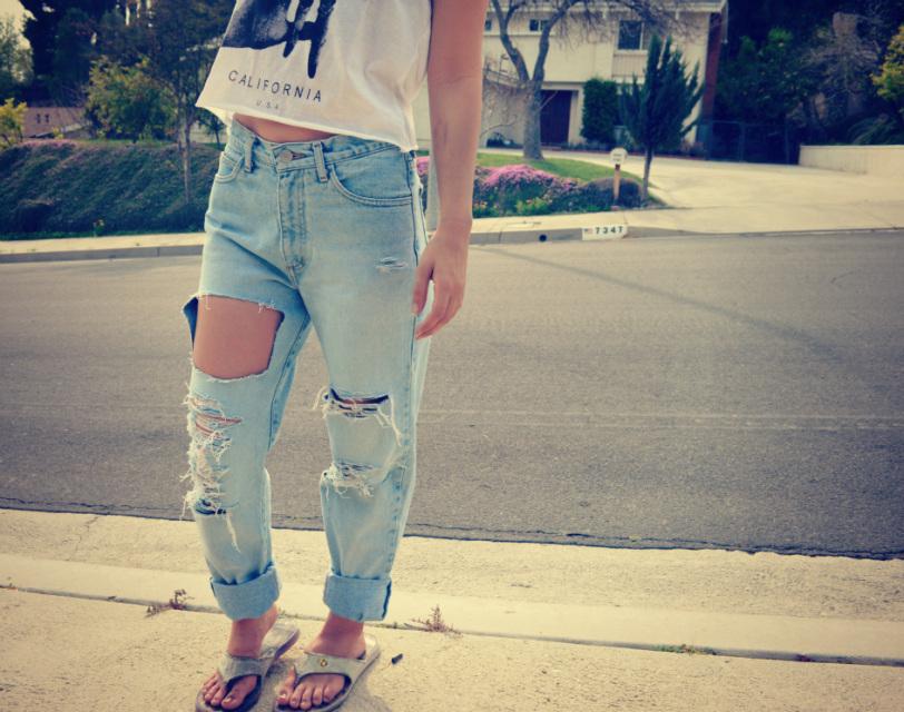 The 'Barbie' Shredded Boyfriend Jeans - Nerdy Youth