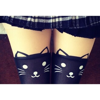 tights cats alternative style grunge